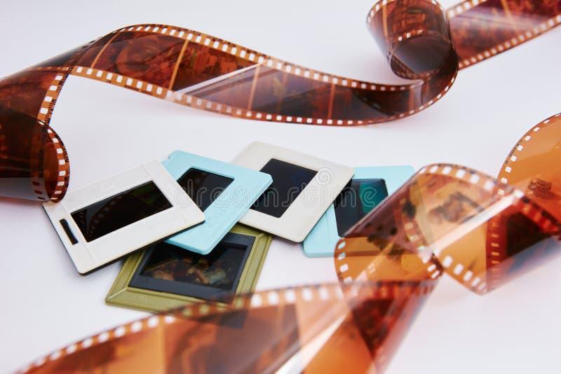 Film et glissières images stock