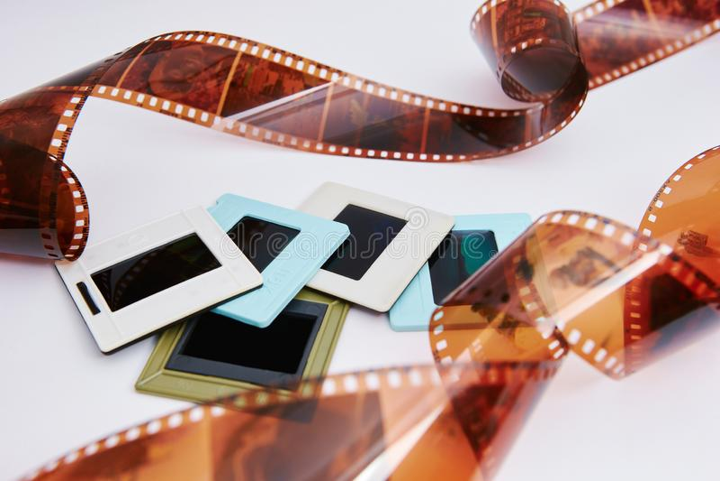 Film et glissières photo libre de droits