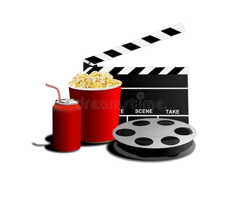 Film et maïs éclaté illustration de vecteur