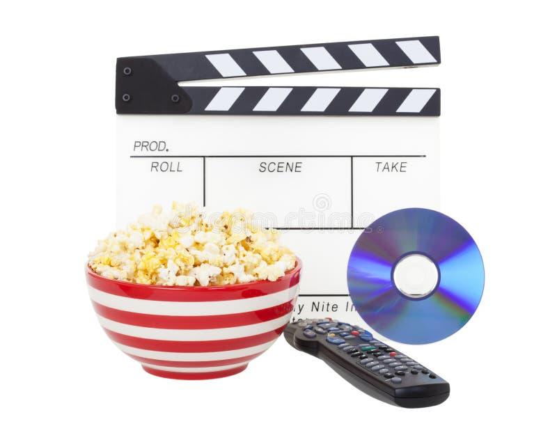 Film et maïs éclaté photo stock