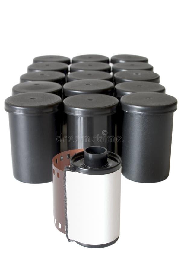 Film et récipients d'appareil-photo photographie stock