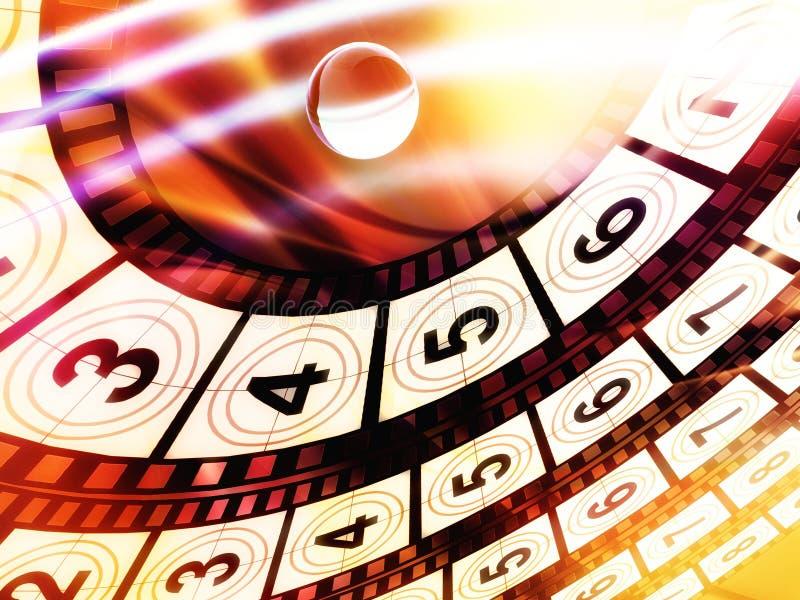 film för bakgrundsräkning ner stock illustrationer
