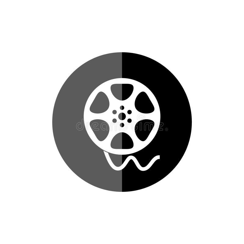 Film för filmrulle, den videopd symbolen, filmsymbol royaltyfri illustrationer