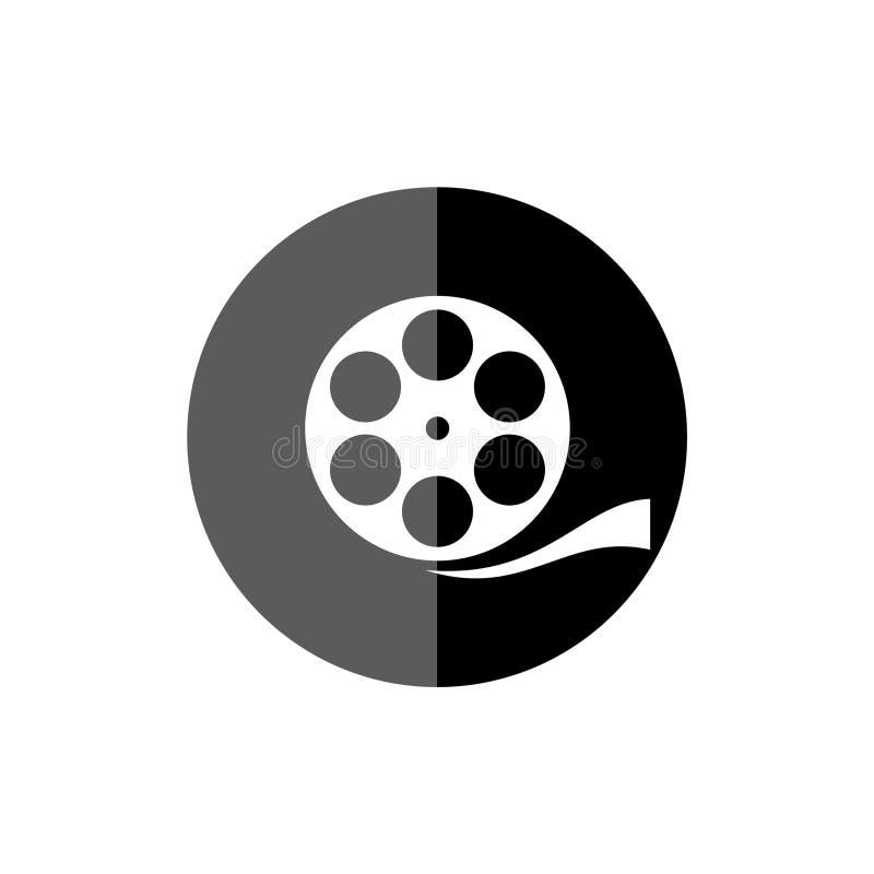 Film för filmrulle, den videopd symbolen, filmsymbol stock illustrationer