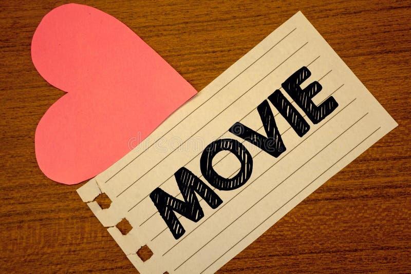 Film för ordhandstiltext Affärsidé för videoen för bio- eller televisionfilmfilm som visas på H för skärmPaperpiece sida royaltyfri illustrationer