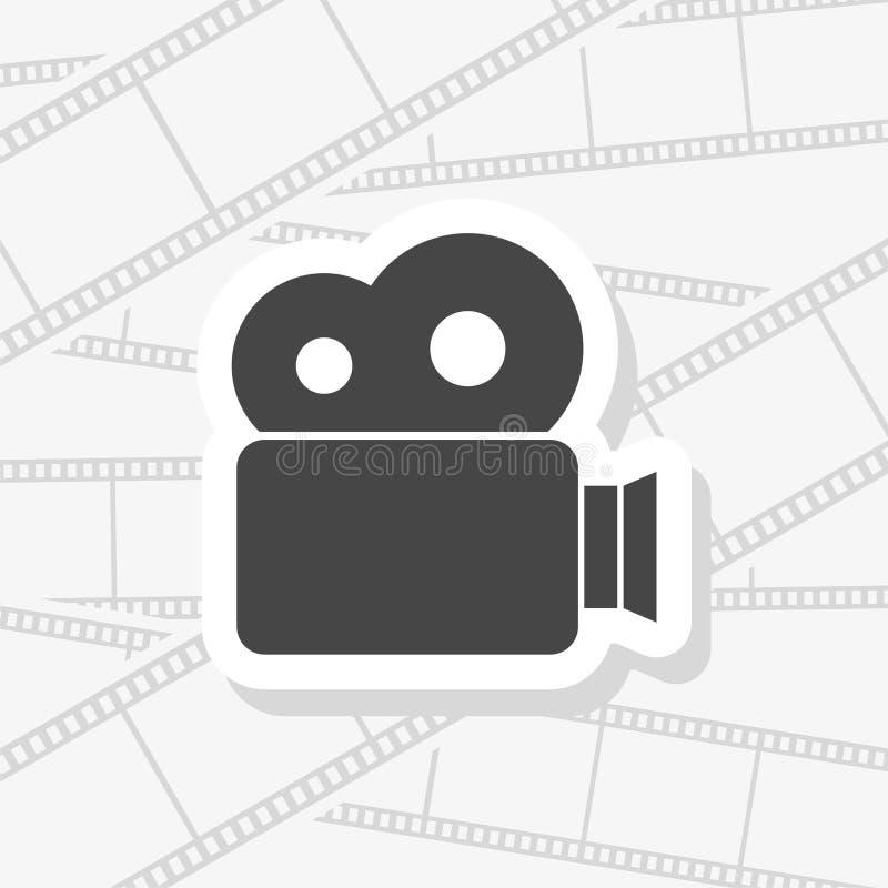 Film festival camera reel concept banner royalty free illustration