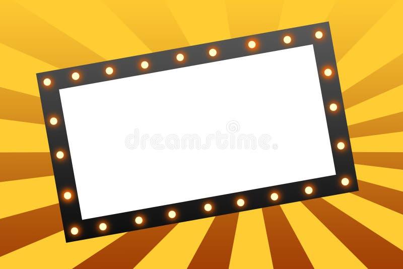 Film-Festzelt lizenzfreie abbildung