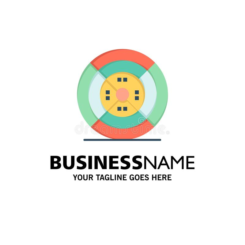 Film, filament, impression, affaires Logo Template d'impression couleur plate illustration libre de droits