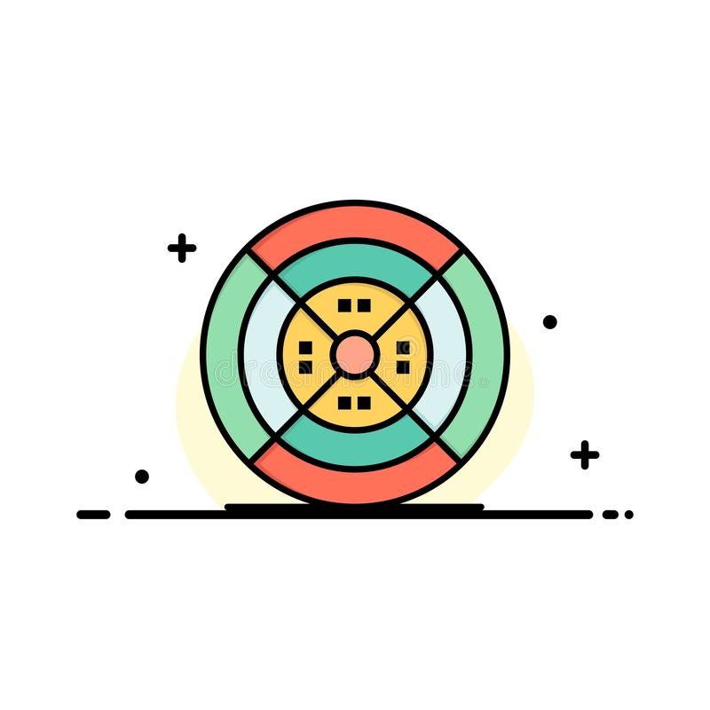 Film, filament, impression, affaires Logo Template d'impression couleur plate illustration stock