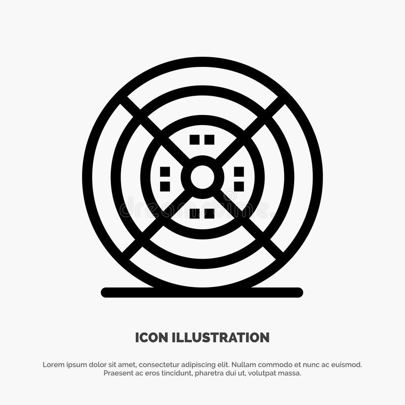 Film, filament, impression, ligne icône de vecteur d'impression illustration de vecteur