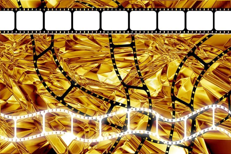 Film-Filmbandspulestreifen der goldenen Ära stockfotografie