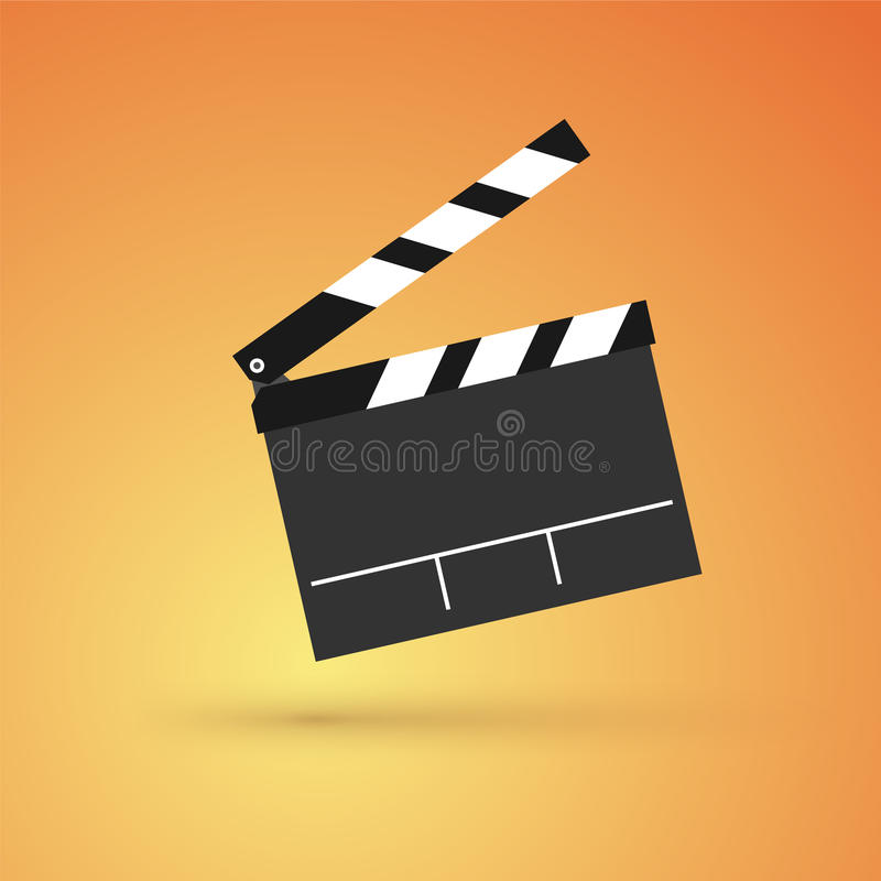 Film flap illustration stock