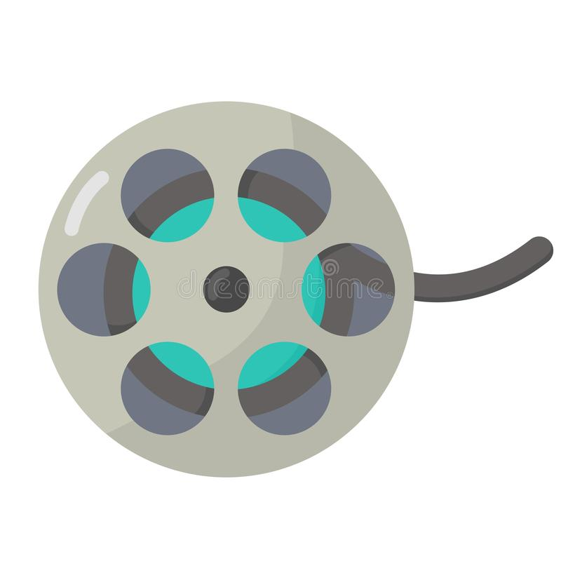 Film flat icon stock illustration