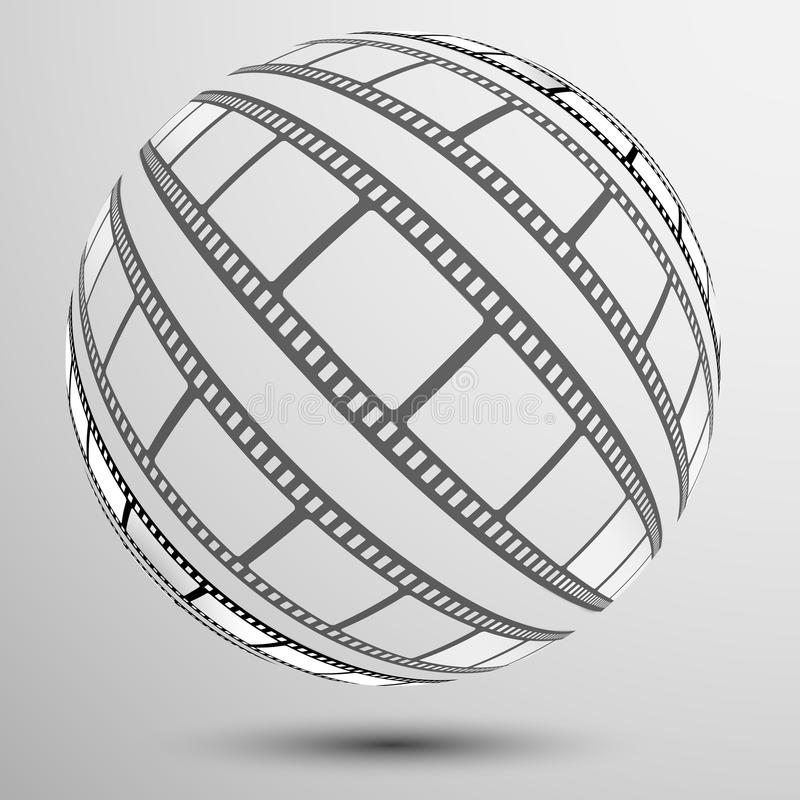 Film, film, foto, filmstripreeks van filmkader, illustratie stock illustratie