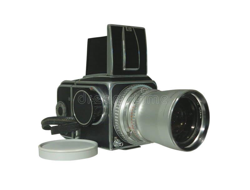 Film-Fotokamera der alten Weinlese Retro- lokalisiert auf weißem Hintergrund lizenzfreies stockfoto