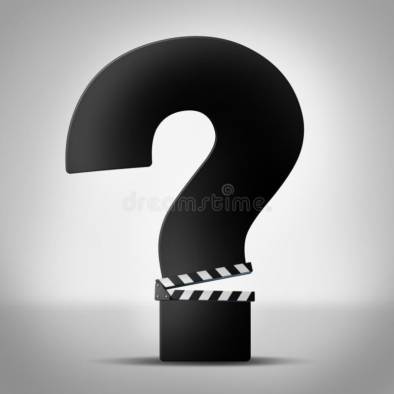 Film-Fragen vektor abbildung