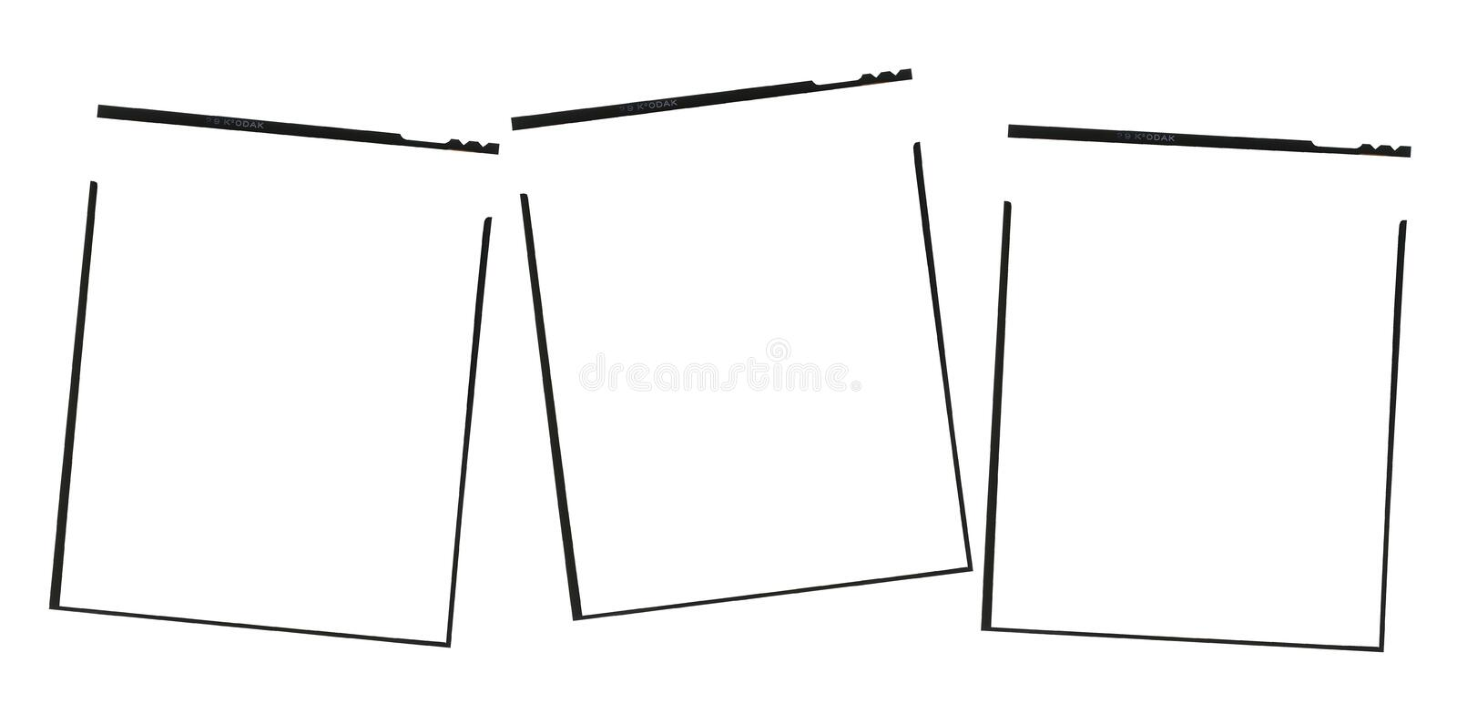 Film frame. For graphic design with photos royalty free stock photo