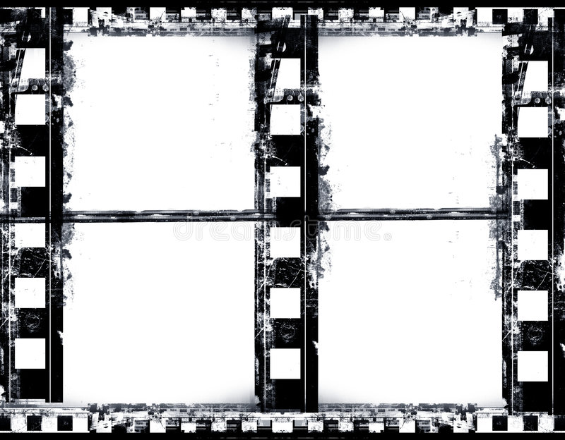 Download Film frame stock illustration. Image of messy, damaged - 2320001