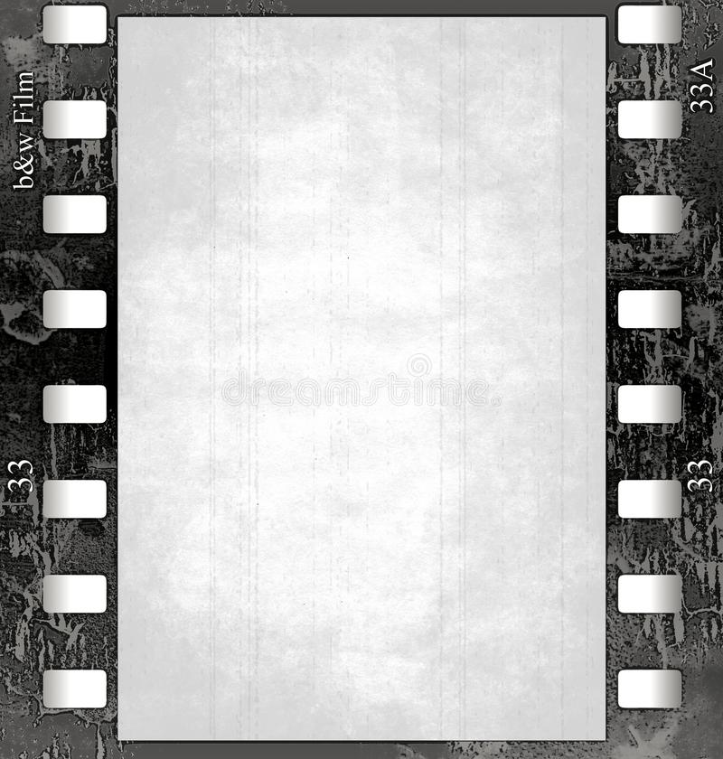 Film frame(black&white) with texture vector illustration