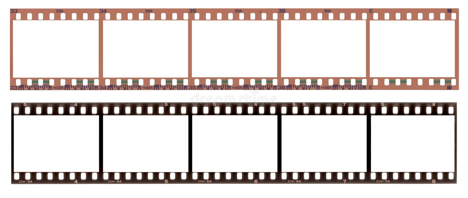 Film frames vector illustration