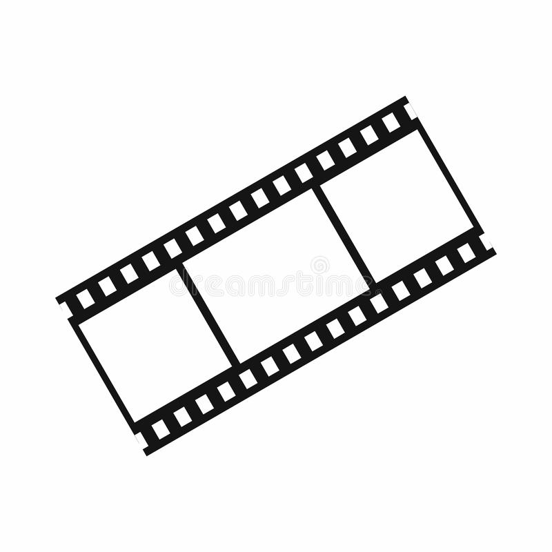 Film with frames icon, simple style. Film with frames icon in simple style isolated on white background. Video symbol vector illustration
