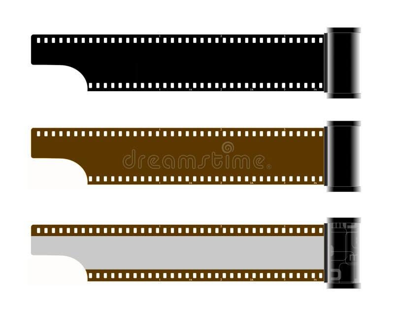 Film (frames) met patroon stock illustratie