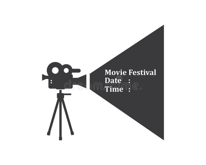 film, het embleempictogram van het filmregistreertoestel van de vectorillustratie van de de industriefilm vector illustratie