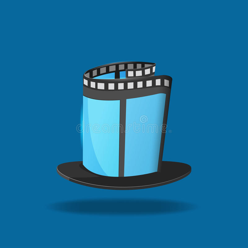Film-Hut-magische Film-Ikone stock abbildung
