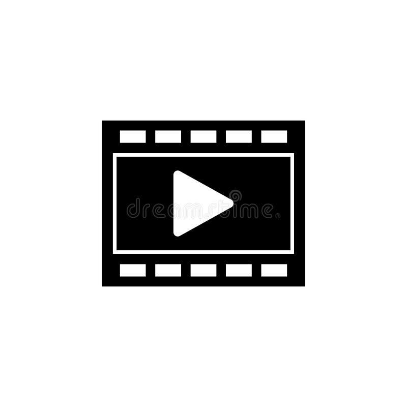 Film, icône de film Des signes et les symboles peuvent être employés pour le Web, logo, l'appli mobile, UI, UX illustration de vecteur