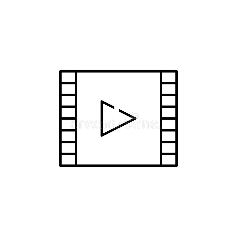 film icon. Element of simple icon in material style for mobile concept and web apps. Thin line icon for website design and develop stock illustration