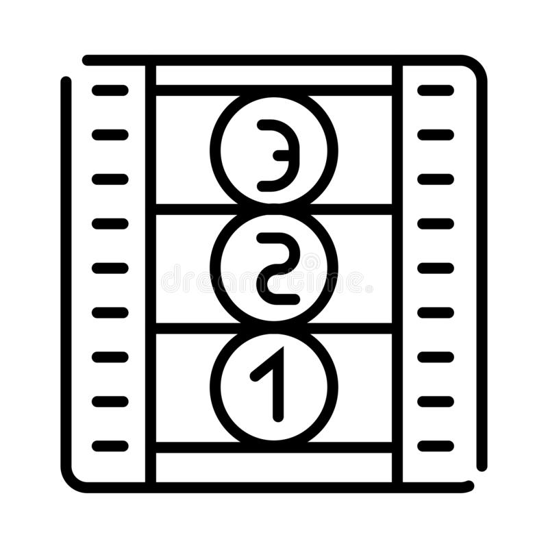 Film icon vector royalty free illustration