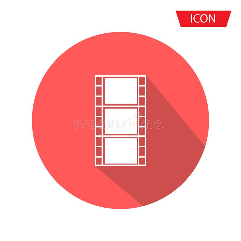 Film Icon Vector vector isolated on background stock illustration