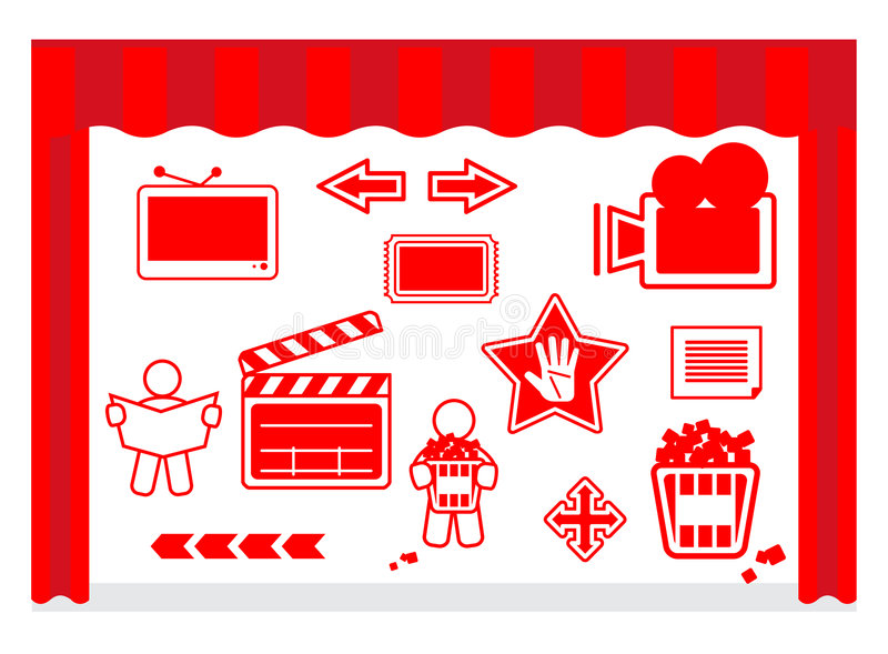 Download Film Icons Stock Image - Image: 8297171