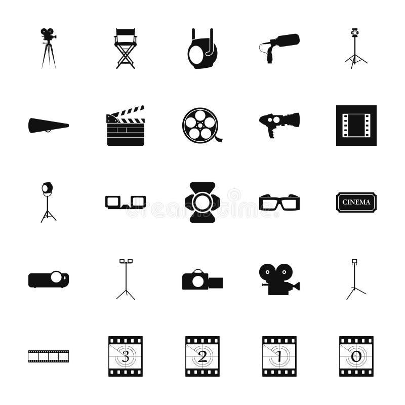 Film ikony kinowy symbol ustawiający na tle obraz royalty free