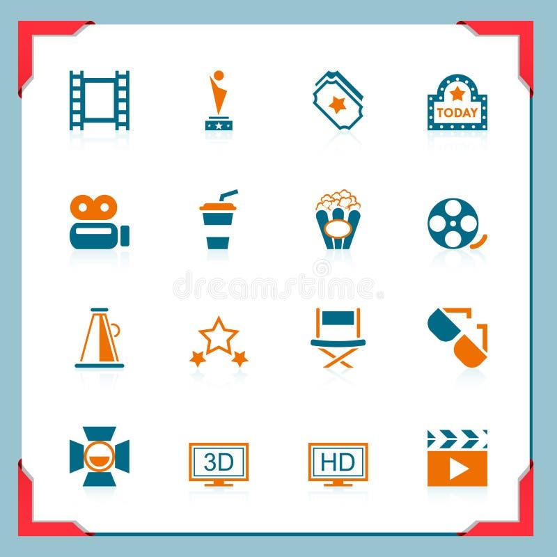Film ikony | W ramowych seriach ilustracja wektor