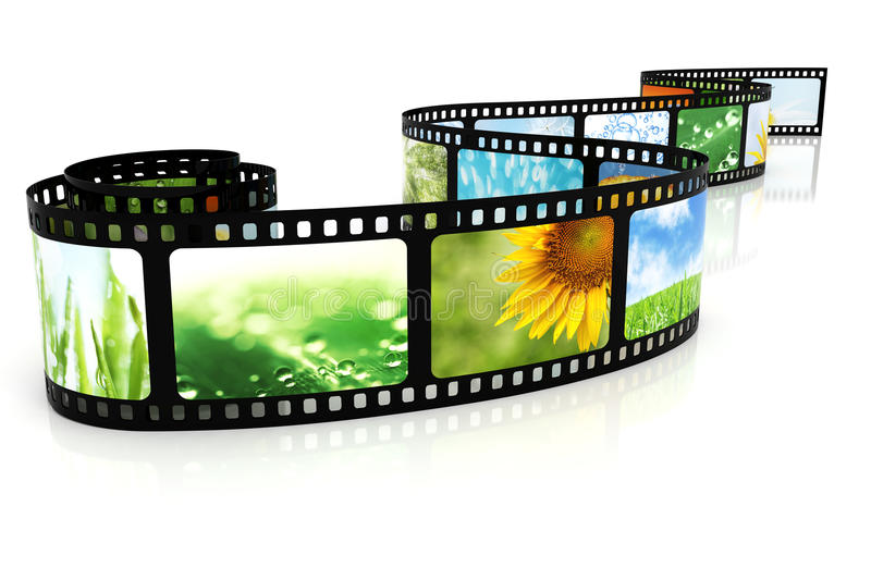 Film with images stock photography
