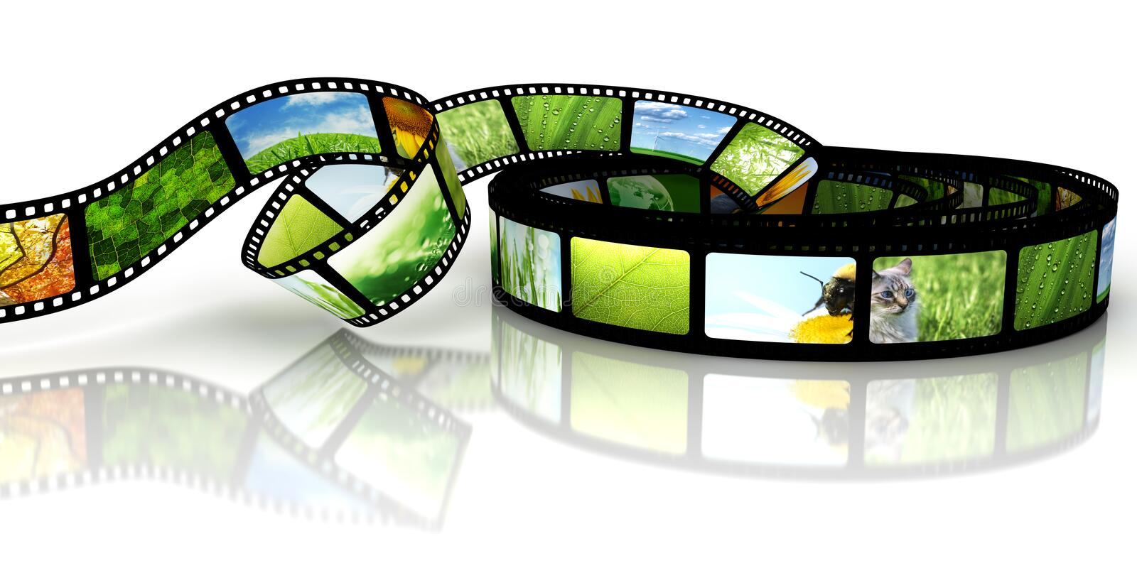 Film with images royalty free illustration
