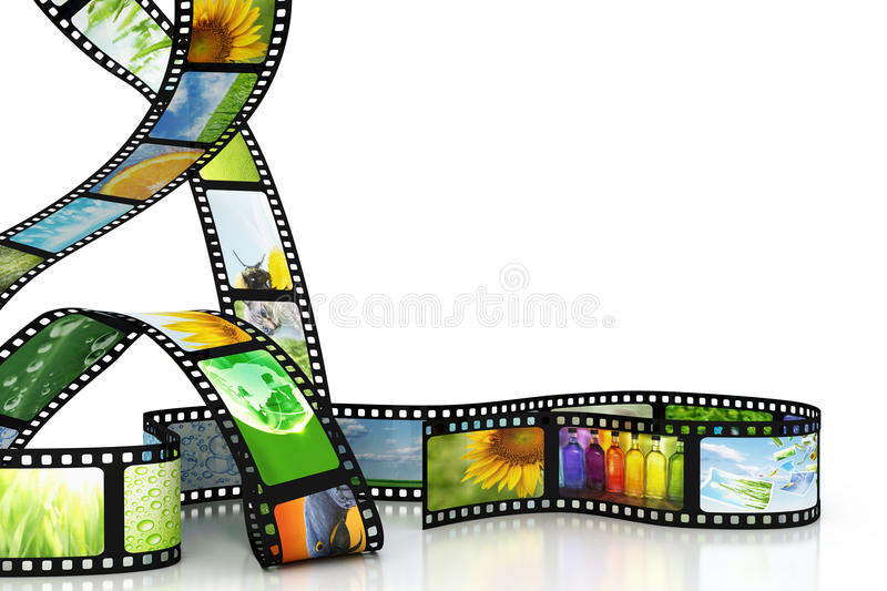 Film with images stock illustration