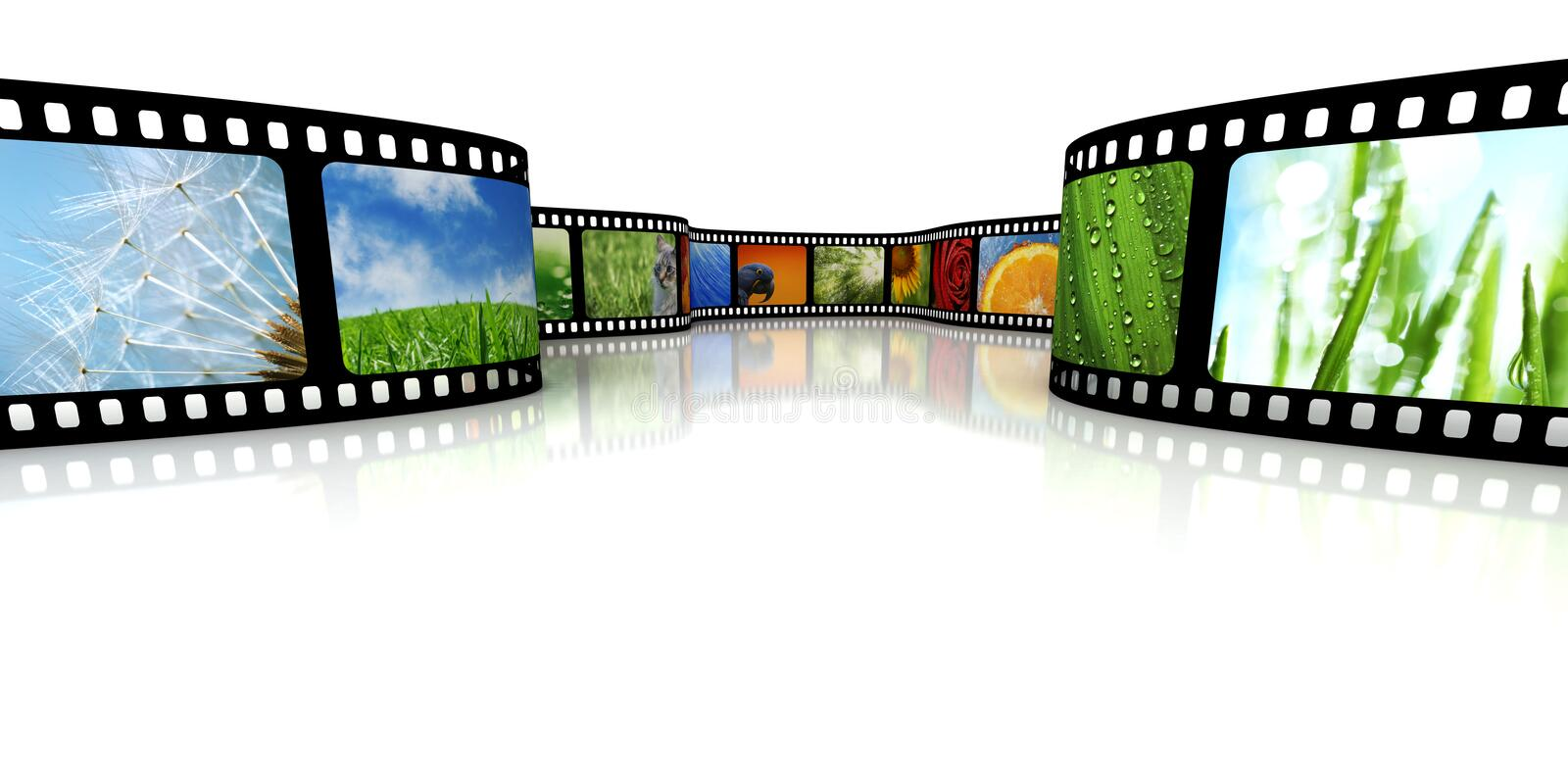 Film with images vector illustration