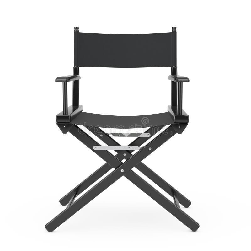 Film Industry Concept. Black Wooden Director Chair. 3d Rendering vector illustration