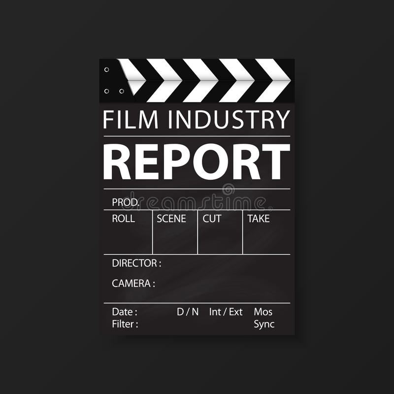 Film industry templates for flyers, brochure, annual report, folder. Cinema, movie Business. Vector. Film industry corporate Identity Templates for flyers stock illustration