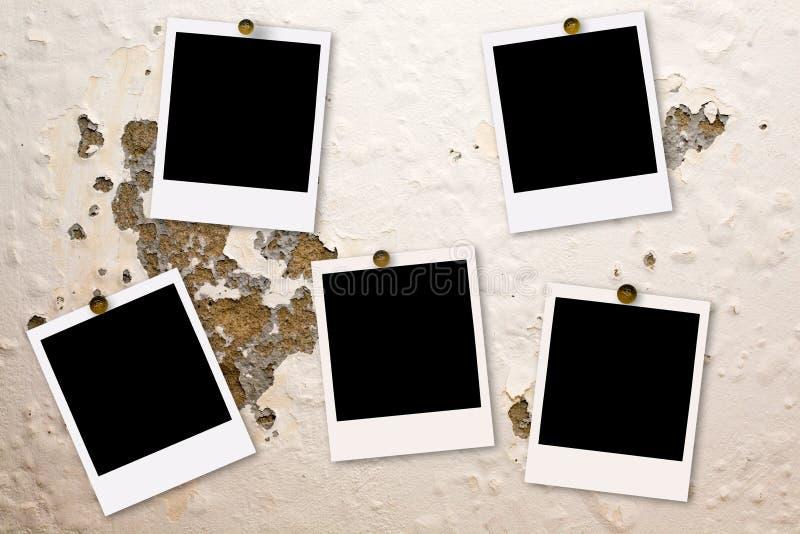 film jest ściana polaroidu ilustracja wektor