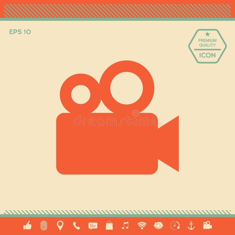 Film kamery ikona ilustracji