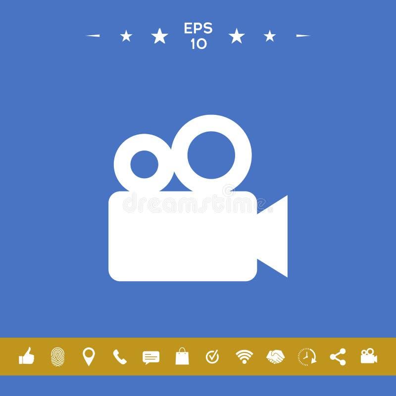 Film kamery ikona royalty ilustracja