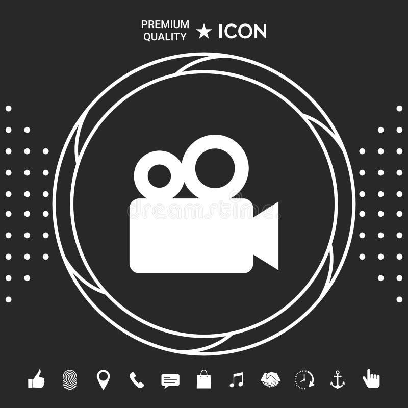 Film kamery ikona Graficzni elementy dla twój designt ilustracji