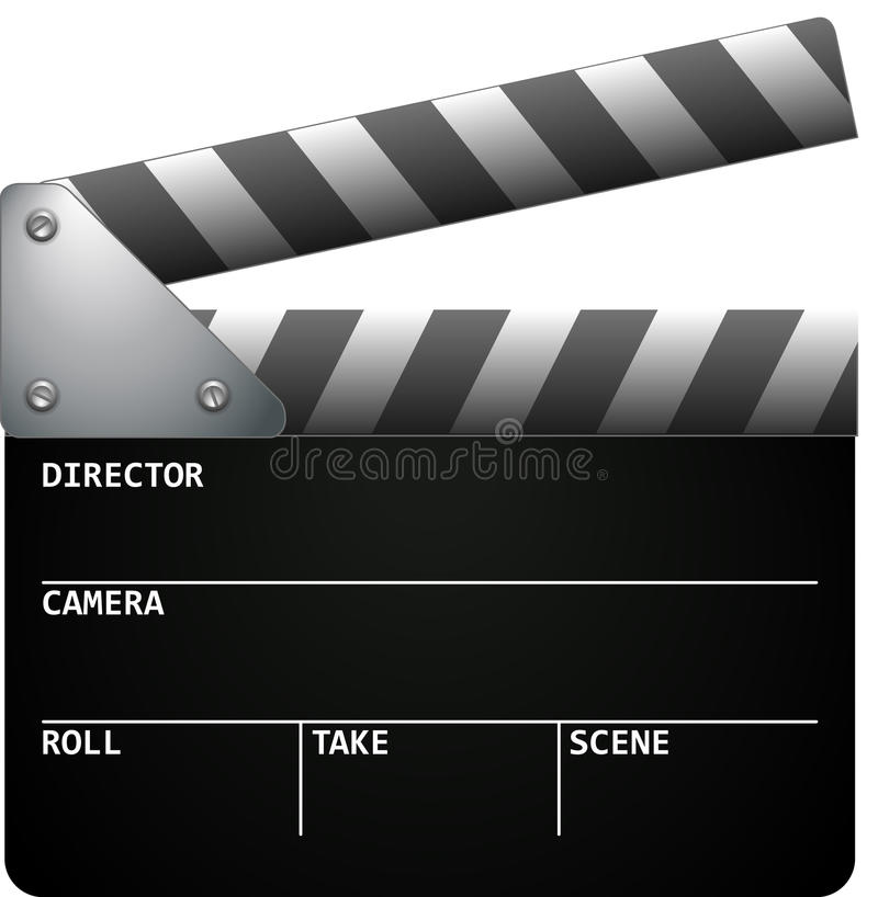 Film-Klatschen vektor abbildung