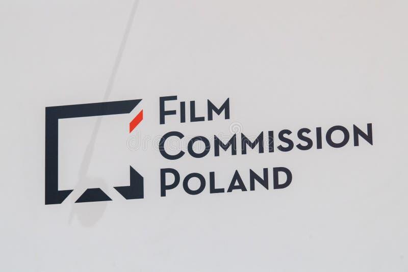 Film-Kommissions-Polen-Emblem stockbild