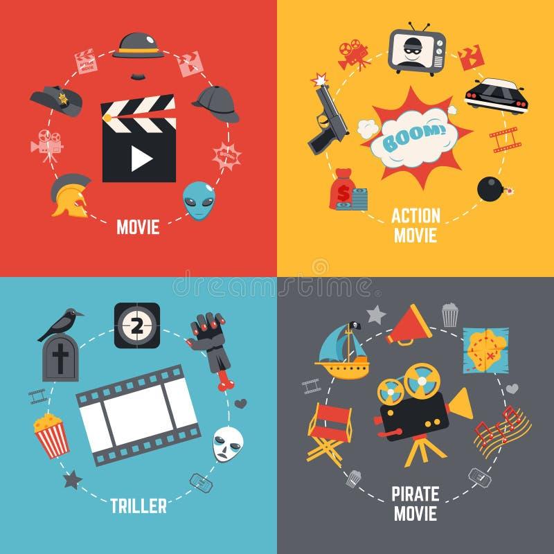Film-Konzept des Entwurfes lizenzfreie abbildung