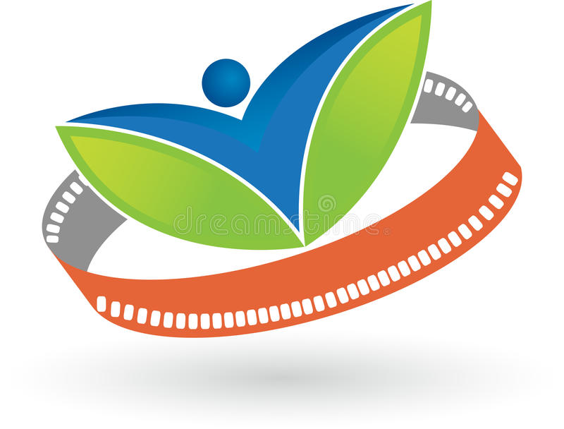 Film leaf man stock illustration