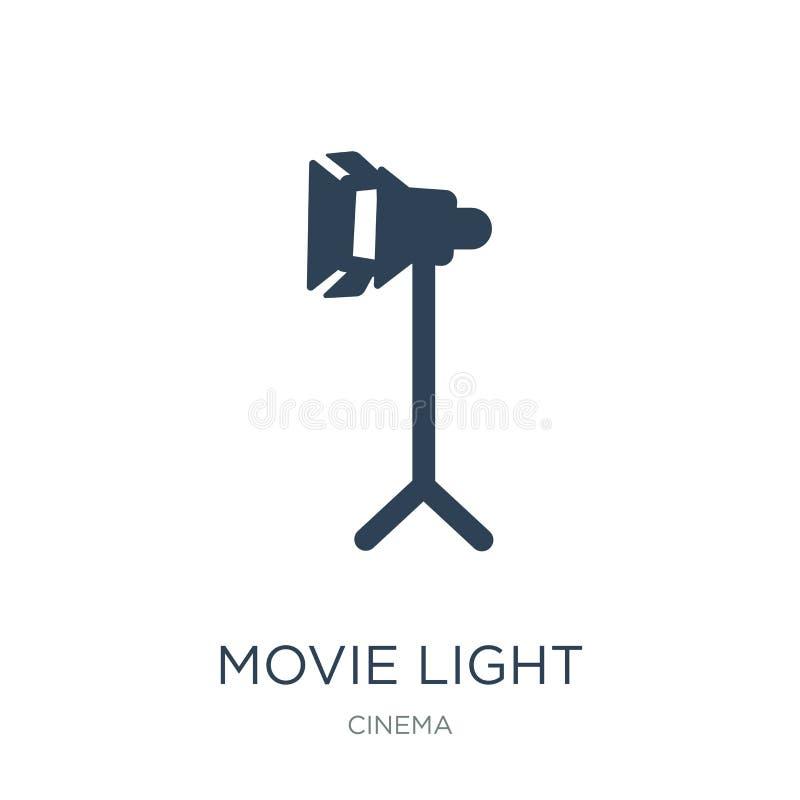 film licht pictogram in in ontwerpstijl film licht die pictogram op witte achtergrond wordt geïsoleerd eenvoudig en modern film l vector illustratie